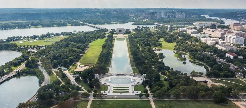 Vue à 360° depuis le Washington Monument