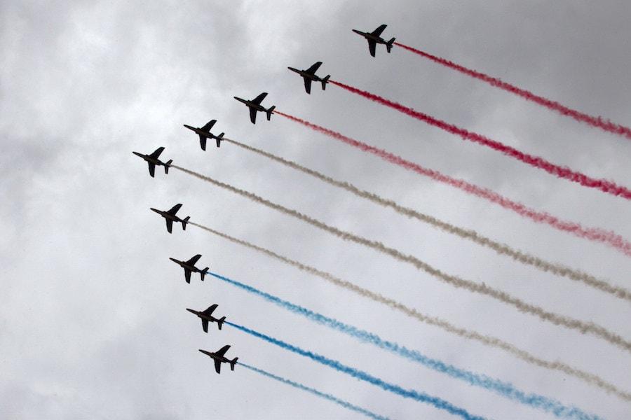 La Patrouille de France au-dessus de Washington