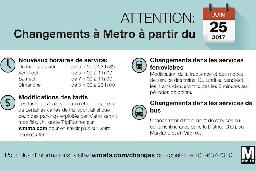 Transports : changements à partir du 25 juin