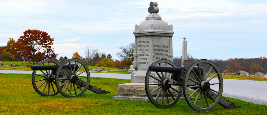 Sur les traces de la guerre de Sécession à Gettysburg
