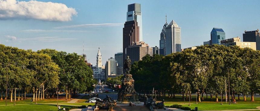 Philadelphie, à quelques heures de Washington, DC