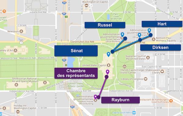 Plan du métro du Capitole à Washington, DC
