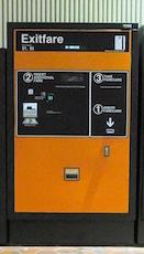 Exemple d'une Exitfare Machine à une station de métro de Washingtonn