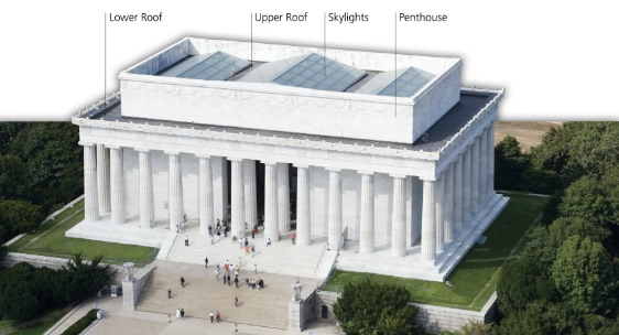 Les travaux du Lincoln Memorial à Washington