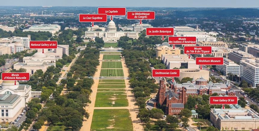 La vue côté est depuis le Washington Monument