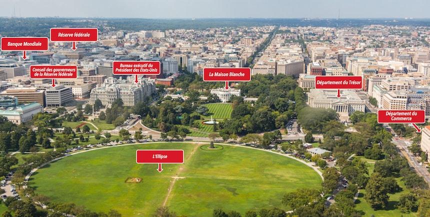 La vue côté nord depuis le Washington Monument