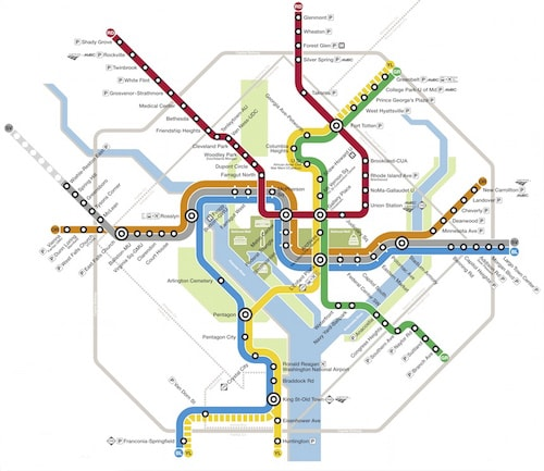 Plan complet du métro de Washington