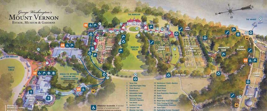 Plan de la propriété de Mount Vernon